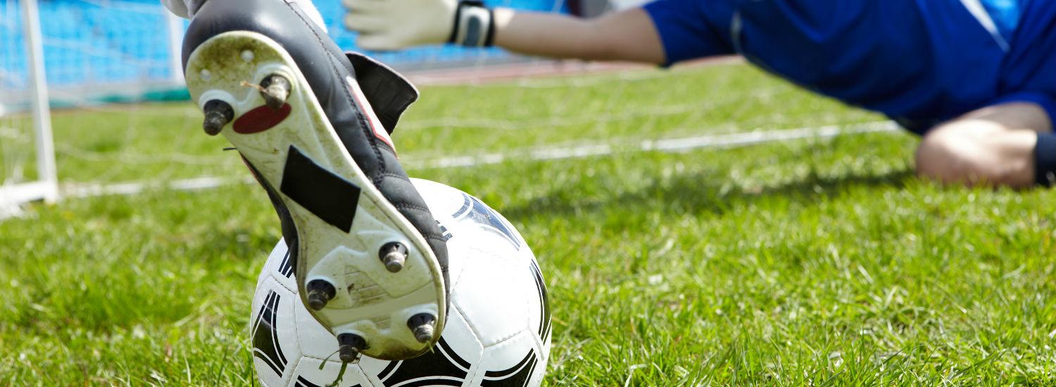 Goles y penales en acciones de fútbol